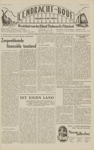 Eendrachtbode (1945-heden)/Mededeelingenblad voor het eiland Tholen (1944/45) 1949-09-02