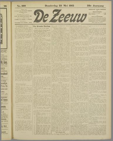 De Zeeuw. Christelijk-historisch nieuwsblad voor Zeeland 1915-05-27