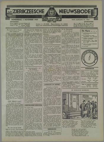 Zierikzeesche Nieuwsbode 1937-11-04