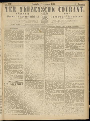 Ter Neuzensche Courant. Algemeen Nieuws- en Advertentieblad voor Zeeuwsch-Vlaanderen / Neuzensche Courant ... (idem) / (Algemeen) nieuws en advertentieblad voor Zeeuwsch-Vlaanderen 1911-08-17