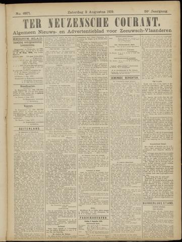 Ter Neuzensche Courant. Algemeen Nieuws- en Advertentieblad voor Zeeuwsch-Vlaanderen / Neuzensche Courant ... (idem) / (Algemeen) nieuws en advertentieblad voor Zeeuwsch-Vlaanderen 1919-08-02
