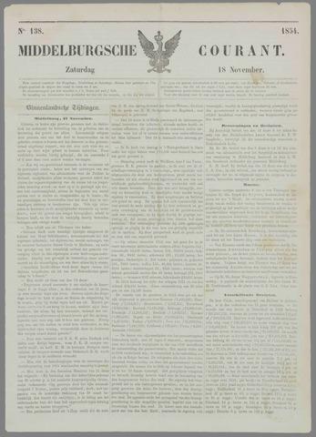 Middelburgsche Courant 1854-11-18