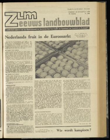 Zeeuwsch landbouwblad ... ZLM land- en tuinbouwblad 1962-08-24