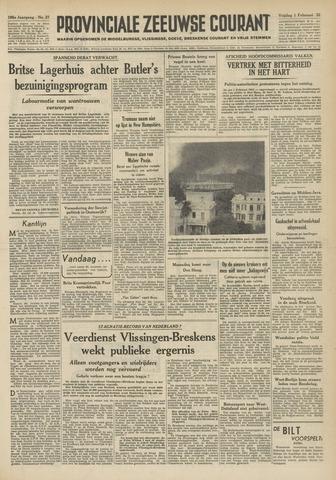Provinciale Zeeuwse Courant 1952-02-01