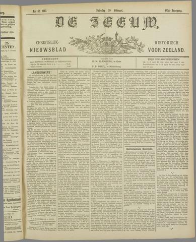 De Zeeuw. Christelijk-historisch nieuwsblad voor Zeeland 1897-02-20
