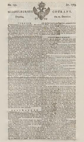 Middelburgsche Courant 1763-12-27