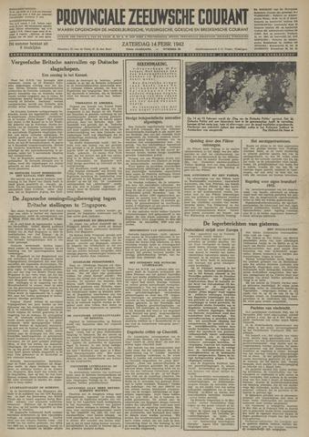 Provinciale Zeeuwse Courant 1942-02-14