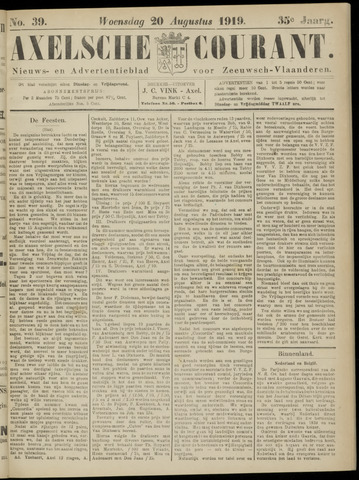 Axelsche Courant 1919-08-20