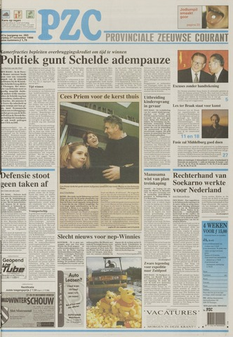 Provinciale Zeeuwse Courant 1998-11-27