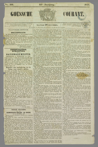 Goessche Courant 1857-12-28