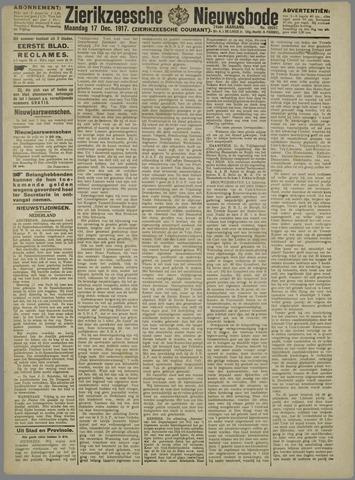 Zierikzeesche Nieuwsbode 1917-12-17