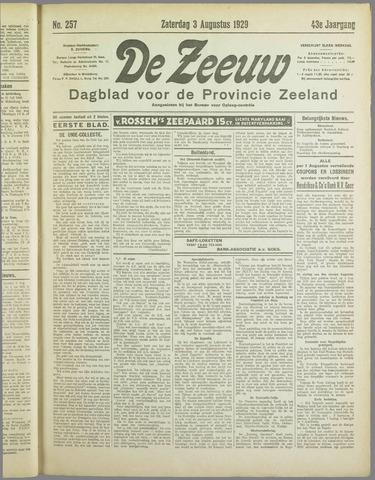 De Zeeuw. Christelijk-historisch nieuwsblad voor Zeeland 1929-08-03