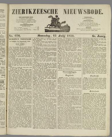 Zierikzeesche Nieuwsbode 1850-07-15