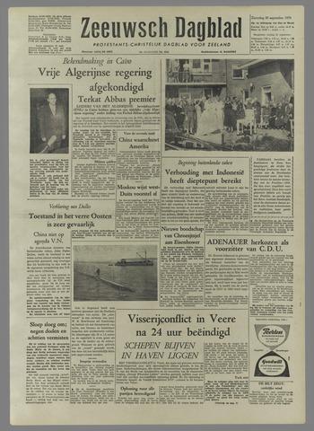 Zeeuwsch Dagblad 1958-09-20
