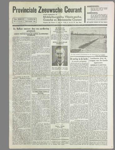 Provinciale Zeeuwse Courant 1940-11-11
