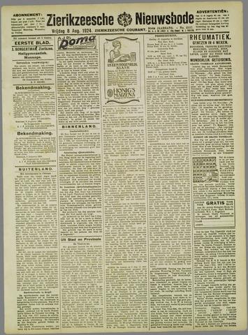 Zierikzeesche Nieuwsbode 1924-08-08