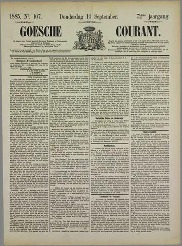 Goessche Courant 1885-09-10