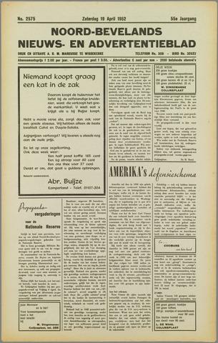 Noord-Bevelands Nieuws- en advertentieblad 1952-04-19