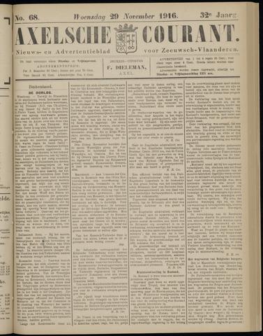 Axelsche Courant 1916-11-29
