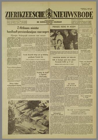 Zierikzeesche Nieuwsbode 1960-04-07