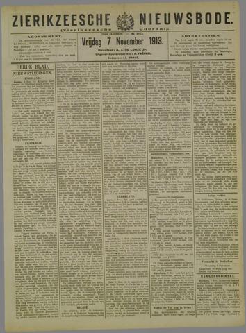 Zierikzeesche Nieuwsbode 1913-11-07