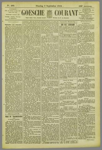 Goessche Courant 1919-09-02