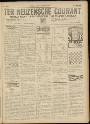 Ter Neuzensche Courant. Algemeen Nieuws- en Advertentieblad voor Zeeuwsch-Vlaanderen / Neuzensche Courant ... (idem) / (Algemeen) nieuws en advertentieblad voor Zeeuwsch-Vlaanderen 1930-10-17