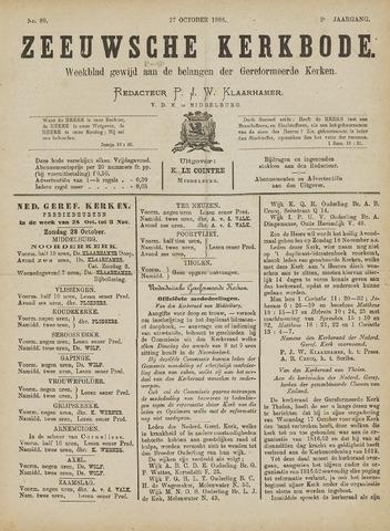 Zeeuwsche kerkbode, weekblad gewijd aan de belangen der gereformeerde kerken/ Zeeuwsch kerkblad 1888-10-27