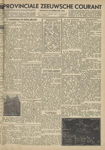 Provinciale Zeeuwse Courant 1944-02-22