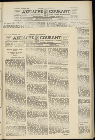 Axelsche Courant 1949-11-09