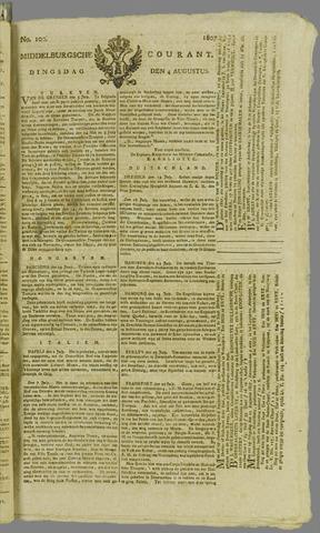Middelburgsche Courant 1807-08-04