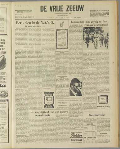 de Vrije Zeeuw 1960-12-03
