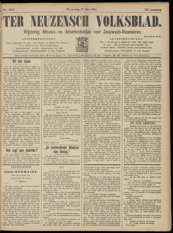 Ter Neuzensch Volksblad. Vrijzinnig nieuws- en advertentieblad voor Zeeuwsch- Vlaanderen / Zeeuwsch Nieuwsblad. Nieuws- en advertentieblad voor Zeeland 1911-05-17