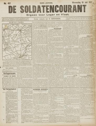 De Soldatencourant. Orgaan voor Leger en Vloot 1917-07-18