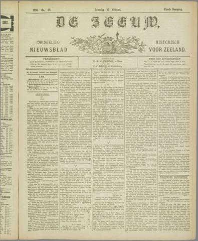 De Zeeuw. Christelijk-historisch nieuwsblad voor Zeeland 1896-02-15