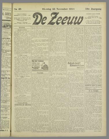 De Zeeuw. Christelijk-historisch nieuwsblad voor Zeeland 1924-11-25