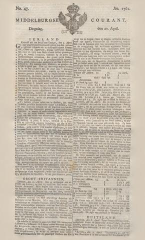 Middelburgsche Courant 1762-04-20