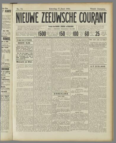 Nieuwe Zeeuwsche Courant 1914-06-27