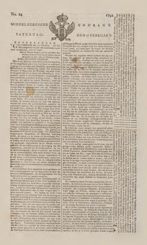 Middelburgsche Courant 1792