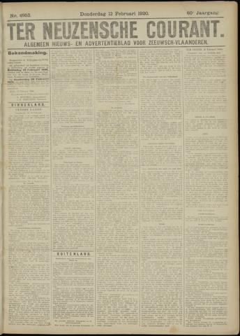 Ter Neuzensche Courant. Algemeen Nieuws- en Advertentieblad voor Zeeuwsch-Vlaanderen / Neuzensche Courant ... (idem) / (Algemeen) nieuws en advertentieblad voor Zeeuwsch-Vlaanderen 1920-02-12