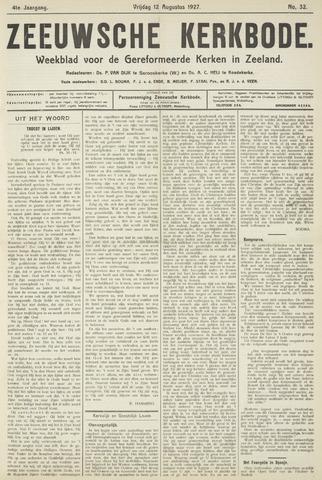 Zeeuwsche kerkbode, weekblad gewijd aan de belangen der gereformeerde kerken/ Zeeuwsch kerkblad 1927-08-12