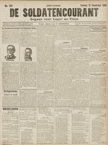 De Soldatencourant. Orgaan voor Leger en Vloot 1916-11-12