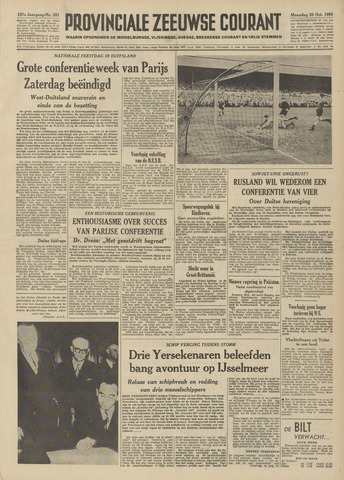 Provinciale Zeeuwse Courant 1954-10-25