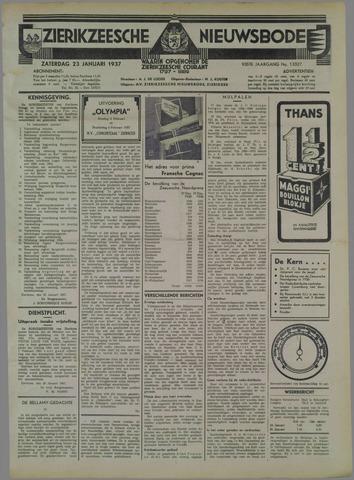 Zierikzeesche Nieuwsbode 1937-01-23