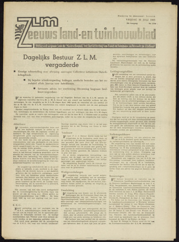 Zeeuwsch landbouwblad ... ZLM land- en tuinbouwblad 1965-07-16
