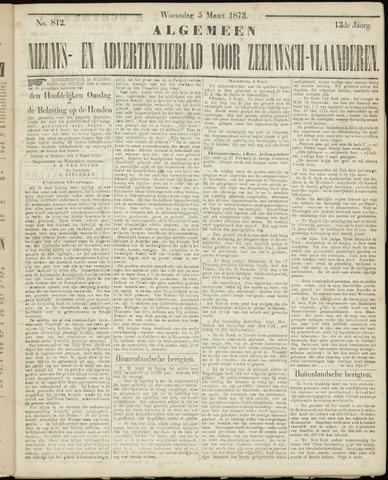 Ter Neuzensche Courant. Algemeen Nieuws- en Advertentieblad voor Zeeuwsch-Vlaanderen / Neuzensche Courant ... (idem) / (Algemeen) nieuws en advertentieblad voor Zeeuwsch-Vlaanderen 1873-03-05