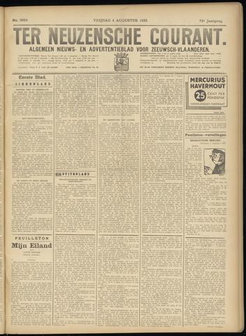 Ter Neuzensche Courant. Algemeen Nieuws- en Advertentieblad voor Zeeuwsch-Vlaanderen / Neuzensche Courant ... (idem) / (Algemeen) nieuws en advertentieblad voor Zeeuwsch-Vlaanderen 1933-08-04