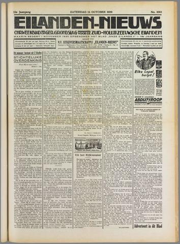 Eilanden-nieuws. Christelijk streekblad op gereformeerde grondslag 1939-10-14