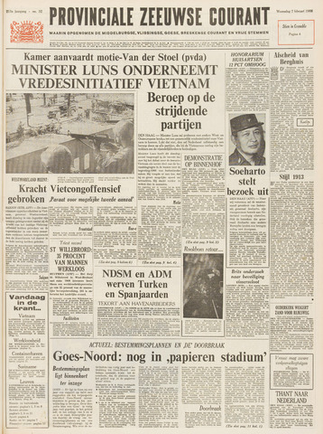 Provinciale Zeeuwse Courant 1968-02-07