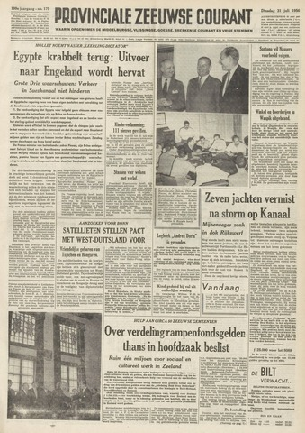 Provinciale Zeeuwse Courant 1956-07-31